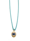 Oval Evil Eye Necklace