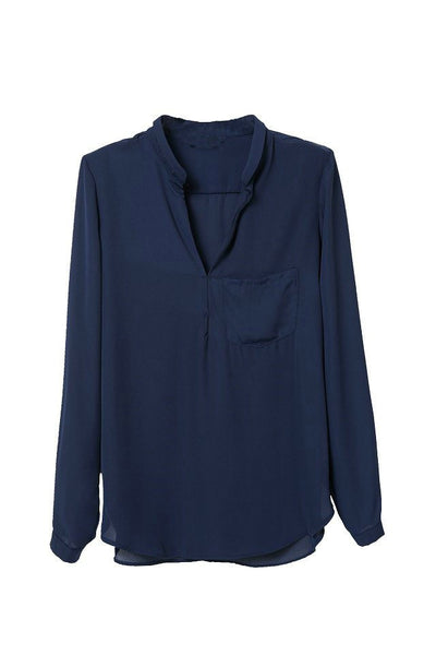 Chiffon Pocket Blouse
