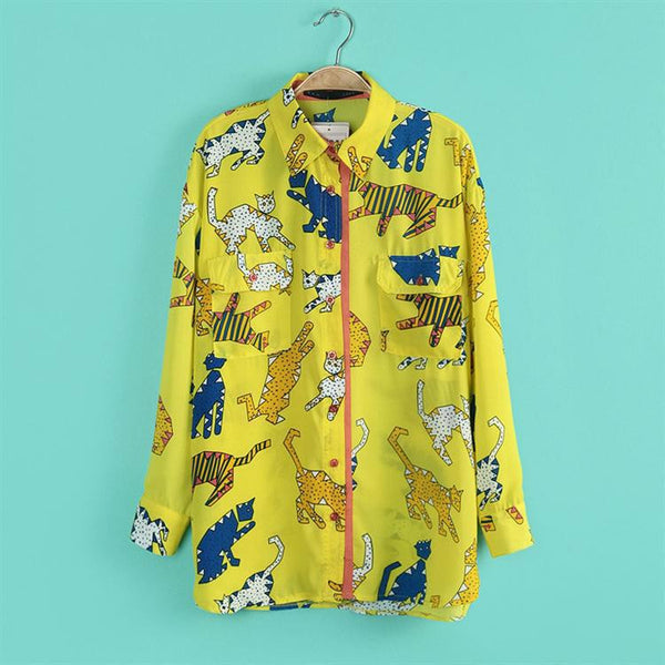 Cat Character Blouse