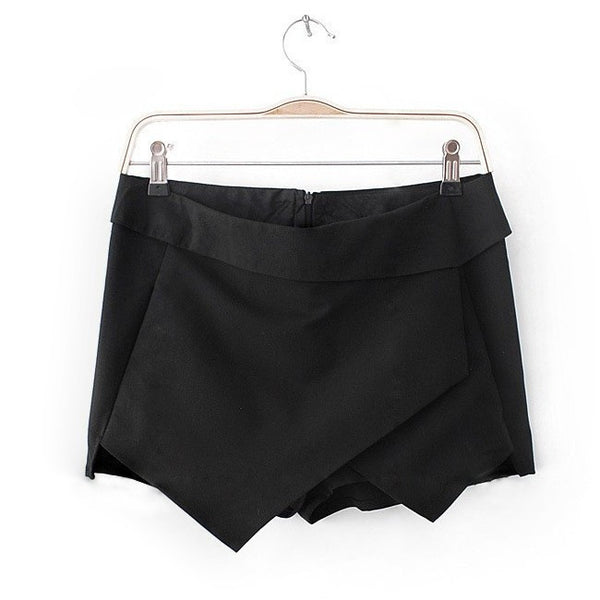 Noir Origami Skirt Shorts