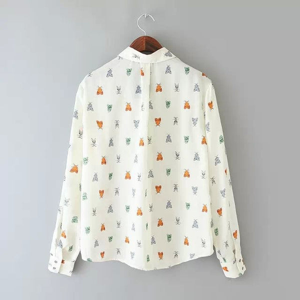 Fly Print Blouse