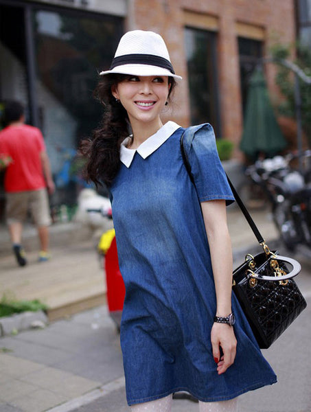 Denim Peter Pan Collar Dress