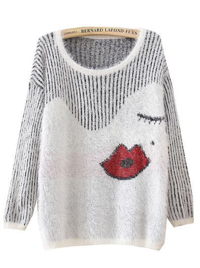 Kissy Face Mohair Sweater