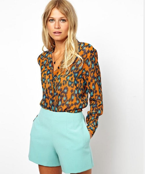 Leopard Pop Blouse