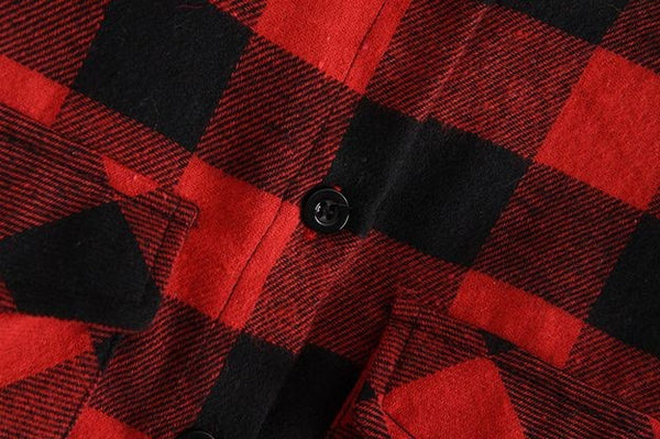Buffalo Plaid Flannel Blouse