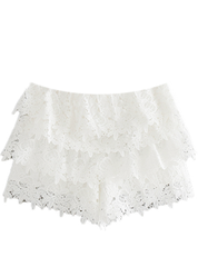 Lace Ruffle Shorts