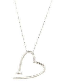 Bent Heart Necklace