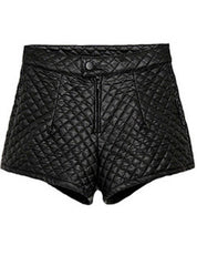 Quilted Leather Shorts