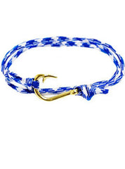 Blue Rope Hook Wrap Bracelet