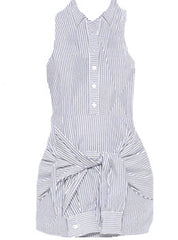 Button Down Stripe Dress