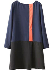 Colorblocked Shirt Dress