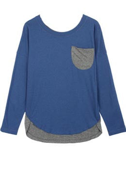 Colorblock Sweater Blouse