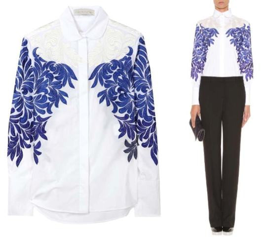 Decal Embroidered Blouse