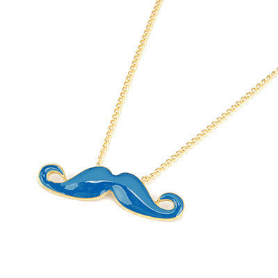 Colorful Mustache Necklace