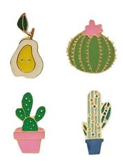 Cactus Pin Brooch Set