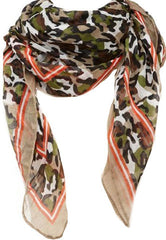 Contrast Camouflage Scarf