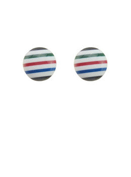 Candy Stripe Studs
