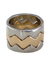 Chevron Ring Stack Ring Set