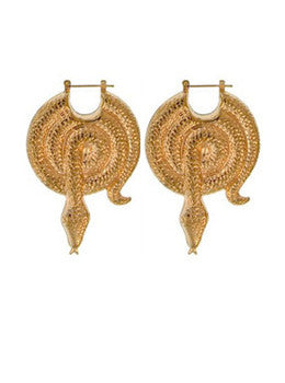 Coiled Snake Earrings