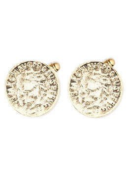 Aztec Coin Cufflinks