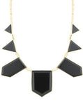 Contrast Geometric Necklace