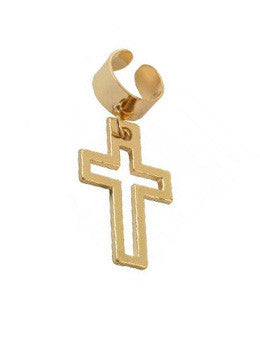 Cross Outline Ear Cuff
