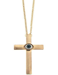 Cross Eye Necklace