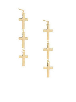 Cross Link Earrings