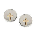 Tonal Cross Studs