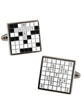 Crossword Sudoku Cufflinks