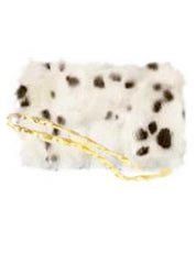 Dalmation Faux Fur Muffler Purse