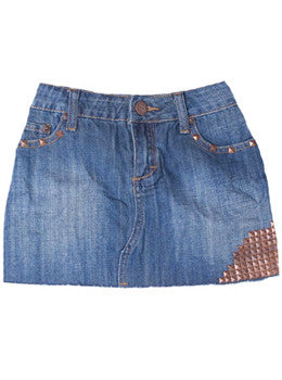 Studded Denim Skirt