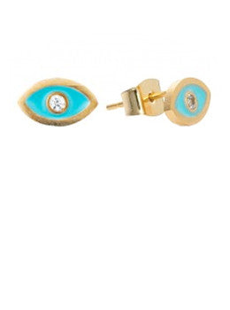Evil Eye Diamond Studs