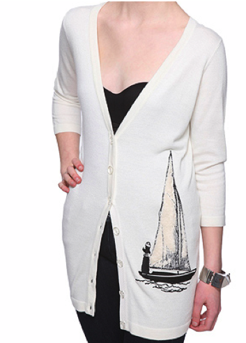 Sailboat Cardigan