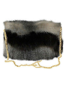 Coyote Faux Fur Muffler Purse
