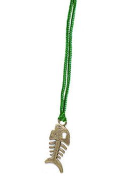 Fish Cord Pendant Necklace