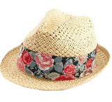 Floral Accent Fedora