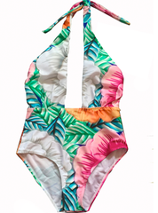 Floral Plunge One Piece
