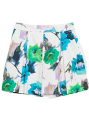 Pleated Floral Shorts