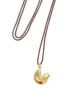 Fortune Cookie Cord Necklace