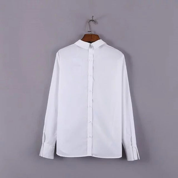 Collared Button Back Blouse