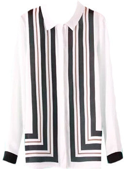 Geometric Panel Blouse