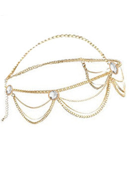 Cleo Rhinestone Drop Headpiece
