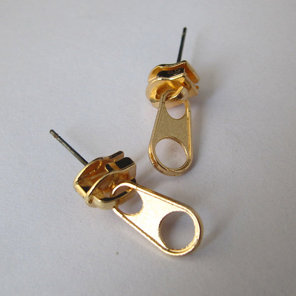 Golden Zipper Studs