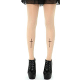 Cross Tattoo Tights