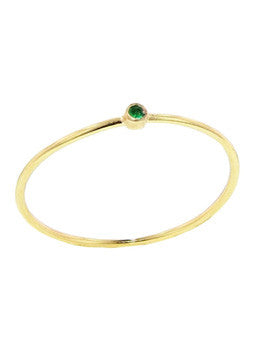 Emerald Thin Ring
