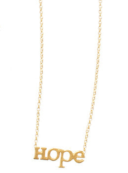 Block Letter Hope Necklace