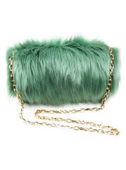 Jade Faux Fur Muffler Purse