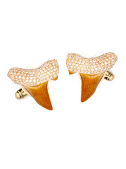 Pave Shark Tooth Cufflinks