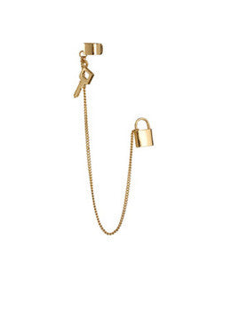 Key Lock Ear Cuff